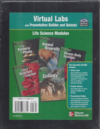 9780078266744: Virtual Labs with Presentation Builder and Quizzes, Glencoe - Life Science Modules