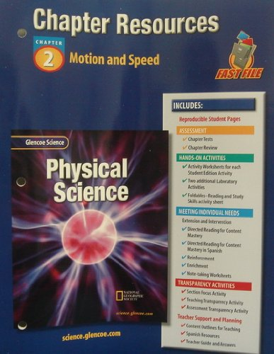 9780078267758: Glencoe Science: Physical Science- Chapter Resources, Chapter 2: Motion and Speed