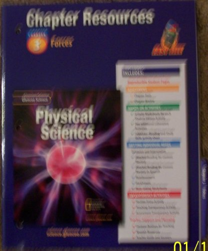 9780078267765: Glencoe Science: Physical Science- Chapter Resources, Chapter 3: Forces