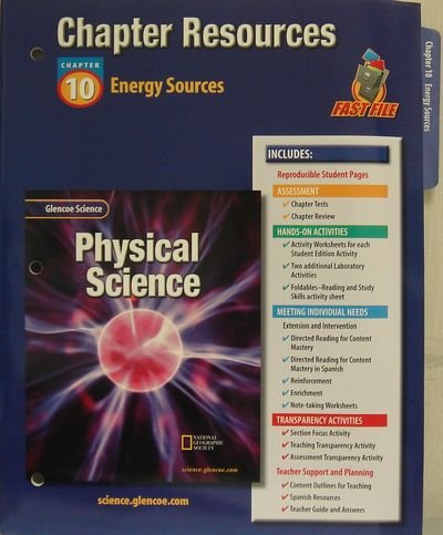 9780078267833: Glencoe Science: Physical Science- Chapter Resources ...