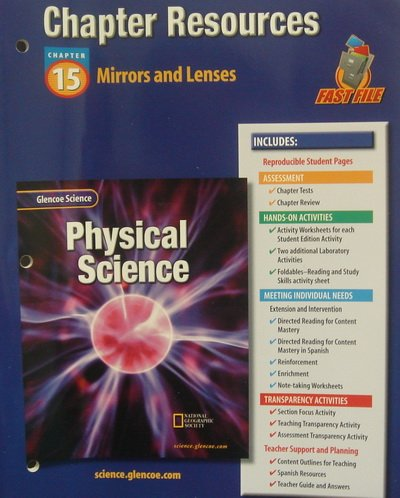 9780078267888: Glencoe Science: Physical Science- Chapter Resources, Chapter 15 Mirrors and Lenses