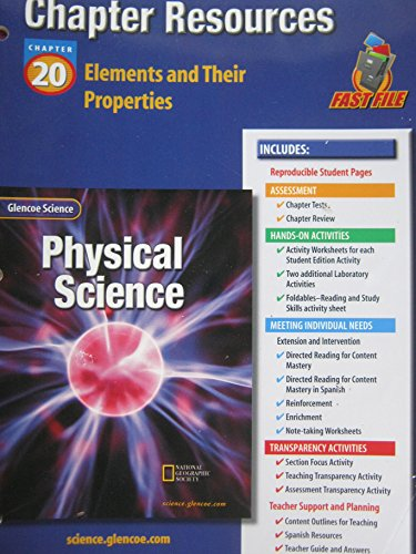 9780078267932: Glencoe Science: Physical Science- Chapter Resources, Chapter 20: Elements and Their Properties