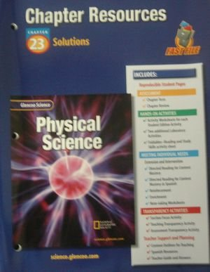 9780078267963: Glencoe Science: Physical Science- Chapter Resources, Chapter 23: Solutions