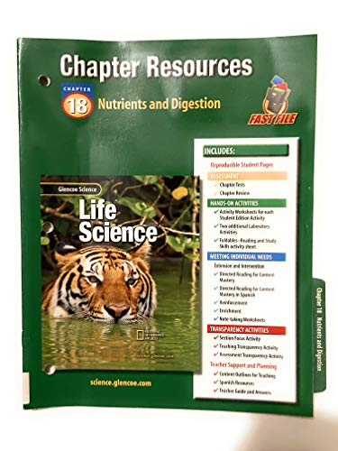 Glencoe Science: Life Science Chapter 18 Nutrients Chp Res 403 2002: McGraw-Hill