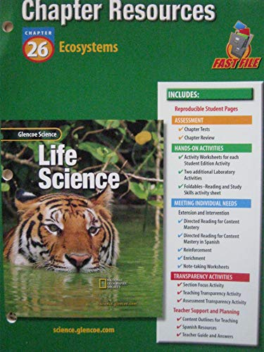9780078269240: Glencoe Science: Life Science Chapter 26 Ecosystems Chp Res 434 2002