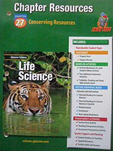 9780078269257: Glencoe Science: Life Science Chapter 27 Conserving Resources Chapter Resources