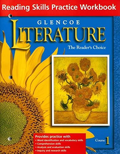 9780078271748: Glencoe Literature Grade 6, Course 1, Reading Skills Practice Workbook