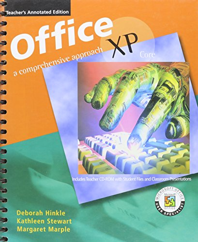 9780078274121: Office XP Core: A Comprehensive Approach. Teacher's Annotated Edition.