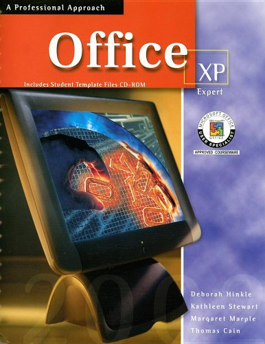 9780078274138: Microsoft Office XP: Expert, A Professional Approach, Student Edition with CD-ROM