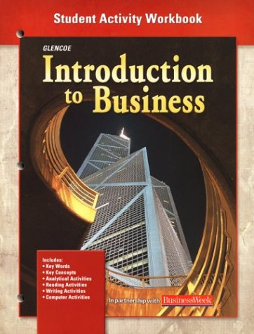 9780078274992: Introduction To Business, Student Activity Workbook Chapters 1-35