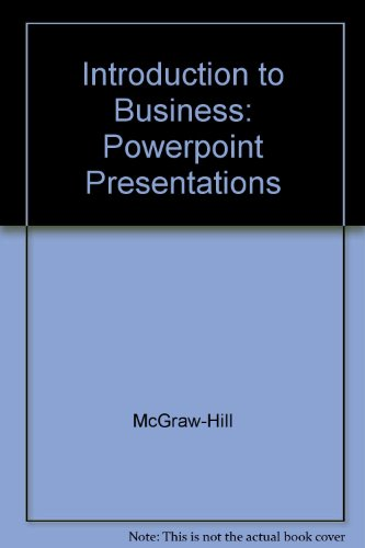 9780078275067: Introduction to Business: Powerpoint Presentations