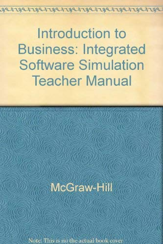 9780078275111: Integrated Software Simulation Teacher Manual (Glencoe Introduction to Business)