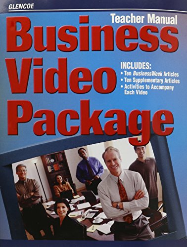 9780078275128: Business Video Package: Teacher's Manual [With Vhs]