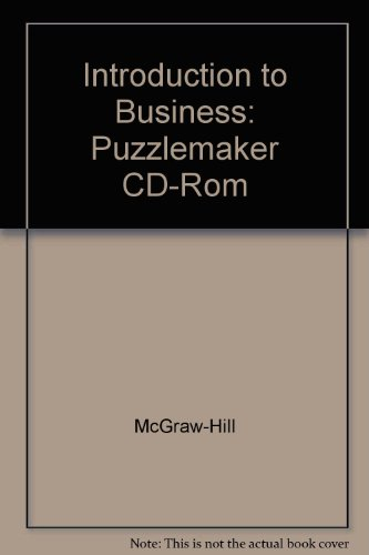 9780078275135: Introduction to Business: Puzzlemaker CD-Rom