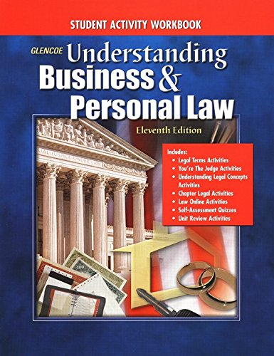 9780078275142: Understanding Business And Personal Law: Student Activity Workbook Student Edition