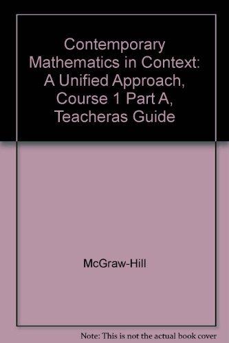 9780078275395: Contemporary Mathematics in Context Course 1, Part A (Teacher's Guide)