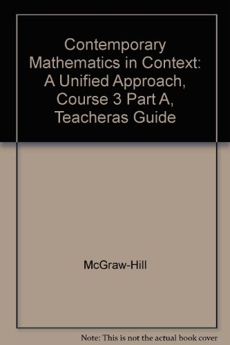 9780078275470: Contemporary Mathematics in Context Course 3, Part A (Teacher's Guide)
