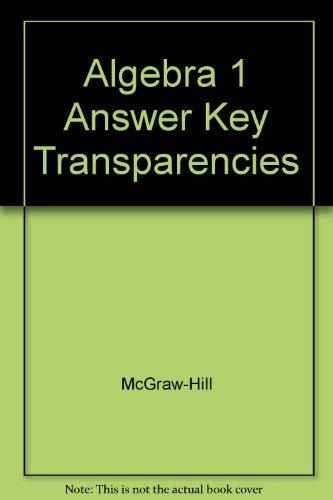 9780078277221: Algebra 1 Answer Key Transparencies