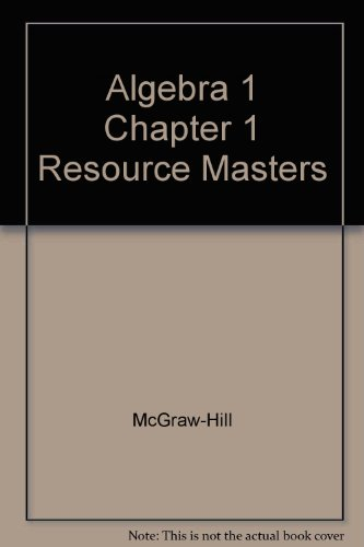 9780078277252: Algebra 1 Chapter 1 Resource Masters