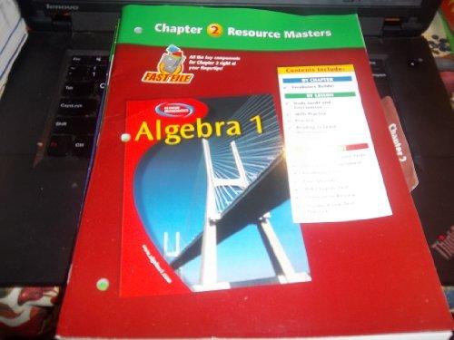 9780078277269: Algebra 1 Chapter 2 Resource Masters