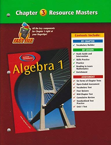 9780078277276: Algebra 1 Chapter 3 Resource Masters