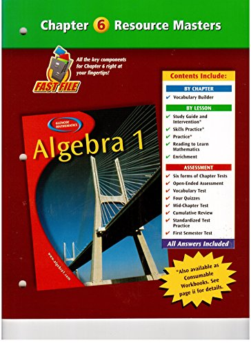 9780078277306: Algebra 1 Chapter 6 Resource Masters