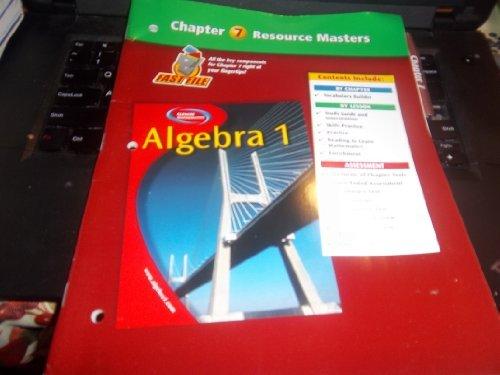 Algebra 1 Chapter 7 Resource Masters: Glencoe/McGraw-Hill