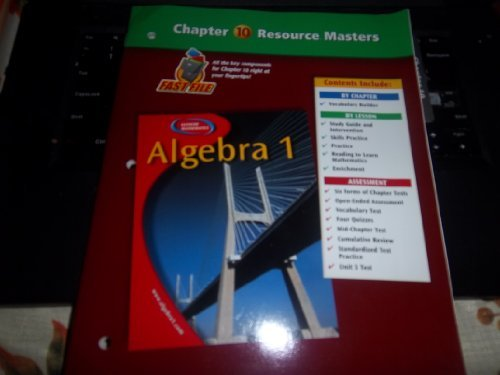 9780078277320: Algebra 1 Chapter 8 Resource Masters