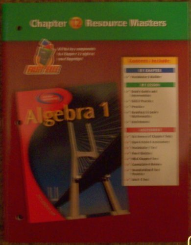 9780078277368 Algebra 1 Chapter 12 Resource Masters