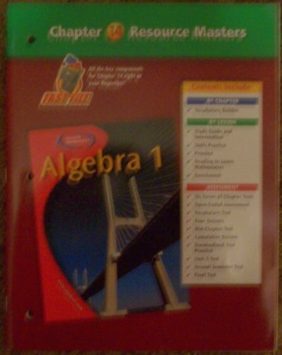 9780078277382: Algebra 1 Chapter 14 Resource Masters