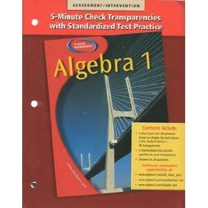 9780078277405: Algebra 1 5-Minute Check Transparencies with Standardized Test Practice