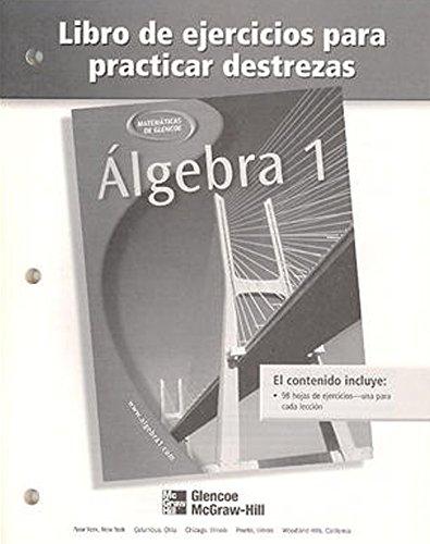 9780078277498: Algebra 1 Libro de Ejercicios Para Practicar Destrezas