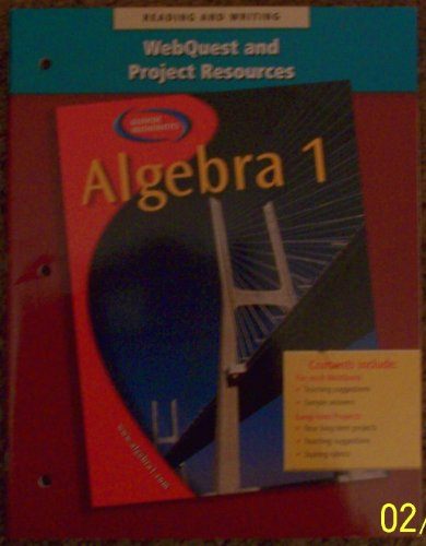 9780078277610: Algebra 2 Webquest and Project Resources