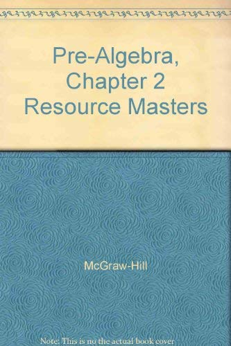 9780078277689: Pre-Algebra, Chapter 2 Resource Masters