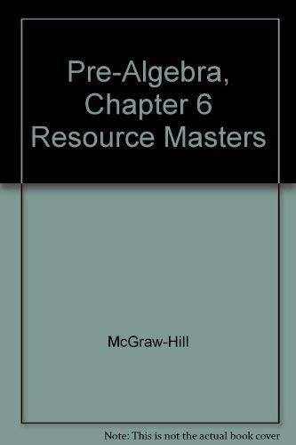 Mcgraw Hill Pre Algebra Chapter Resource Masters AbeBooks