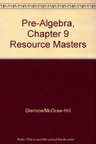 9780078277757: Pre-Algebra, Chapter 9 Resource Masters