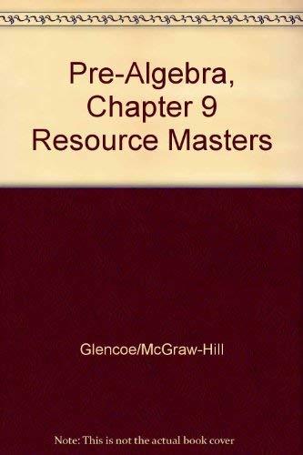 9780078277757 Pre Algebra Chapter 9 Resource Masters