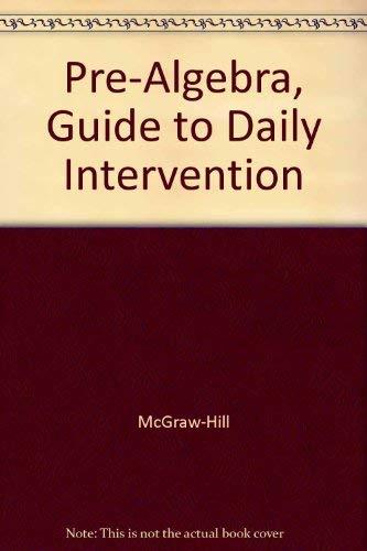 9780078277832: Pre-Algebra, Guide to Daily Intervention