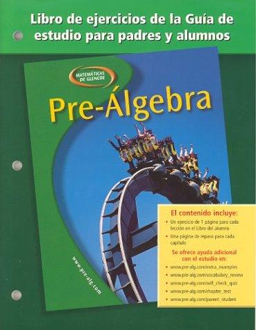 9780078277870: Pre-Algebra Libro de Ejercicios de La Guia de Estudio Para Padres y Alumnos