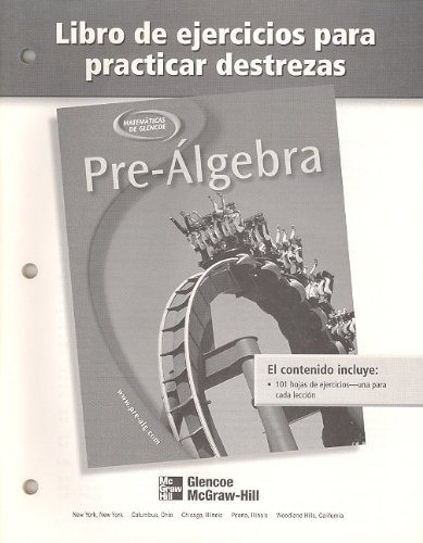 9780078277900: Pre-Algebra Libro de Ejercicios Para Practicar Destrezas