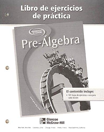 9780078277917: Pre-Algebra, Spanish Practice Workbook