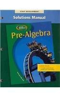 9780078277931: Pre-algebra Solutions Manual