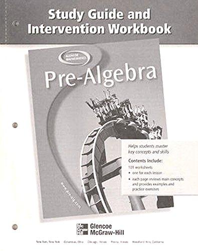9780078277948: Pre-Algebra, Study Guide and Intervention Workbook