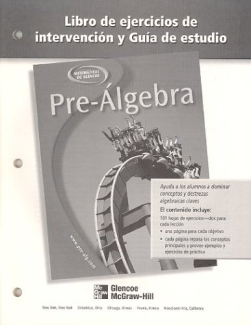 9780078277955: Pre-Algebra, Spanish Study Guide and Intervention Workbook