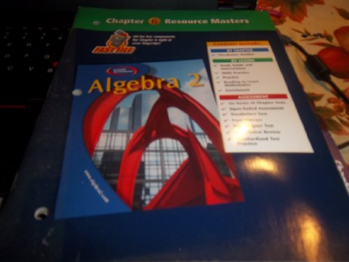 9780078280092: Algebra 2 Chapter 6 Resource Masters