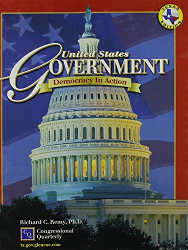9780078285684: United States Gov'T: Democracy in Action Texas Student Edition 2003