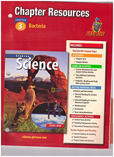 9780078286476: Integrated Science G6 Natl Chapter 3 Bacteria Chapter Resources 408 2003