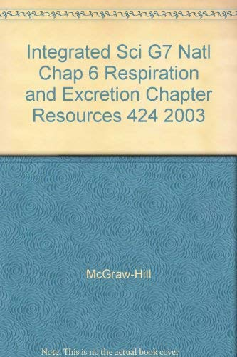 Integrated Sci G7 Natl Chap 6 Respiration: McGraw-Hill