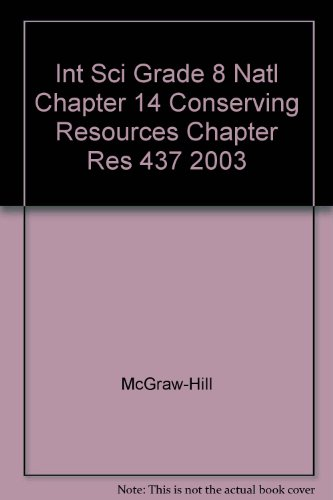 Science, Level Blue Chapter 14 Resources: Conserving Resources (2003 Copyright)