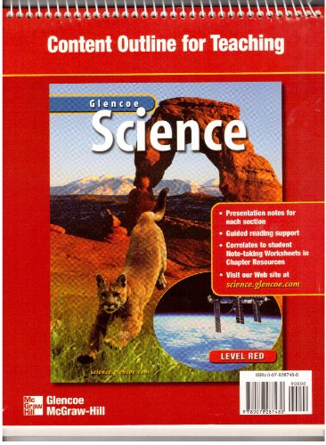 9780078287480: Glencoe Science Content Outline for Teaching Level Red